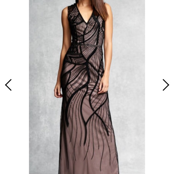 Aidan Mattox Dresses | Black Beaded Gown | Poshmark